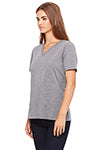 Women's V-Neck Heather Grey with Luma Vintage Chicken