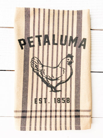 Luma Vintage Petaluma Chicken Tea Towel - Burberry Plaid
