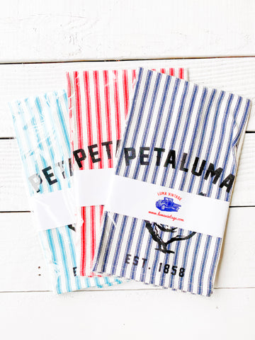Luma Vintage Petaluma Chicken Tea Towels -Ticking