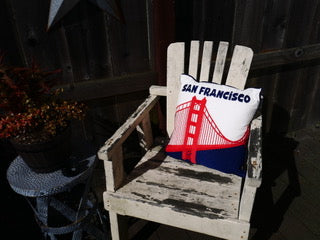 Golden Gate Bridge/San Francisco Embroidered Pillow Cover
