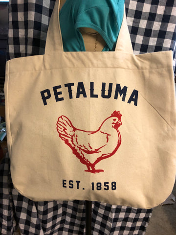 Luma Vintage Petaluma Chicken Tote Bag