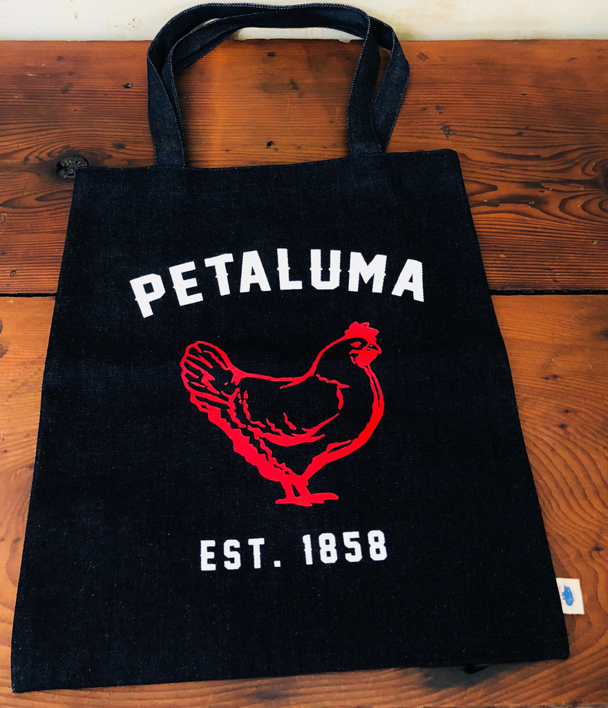 Luma Vintage Simple Tote Bag with Chicken Gingham Lining