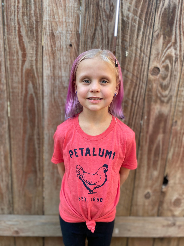 Red Kids Luma Vintage Petaluma Chicken Shirt