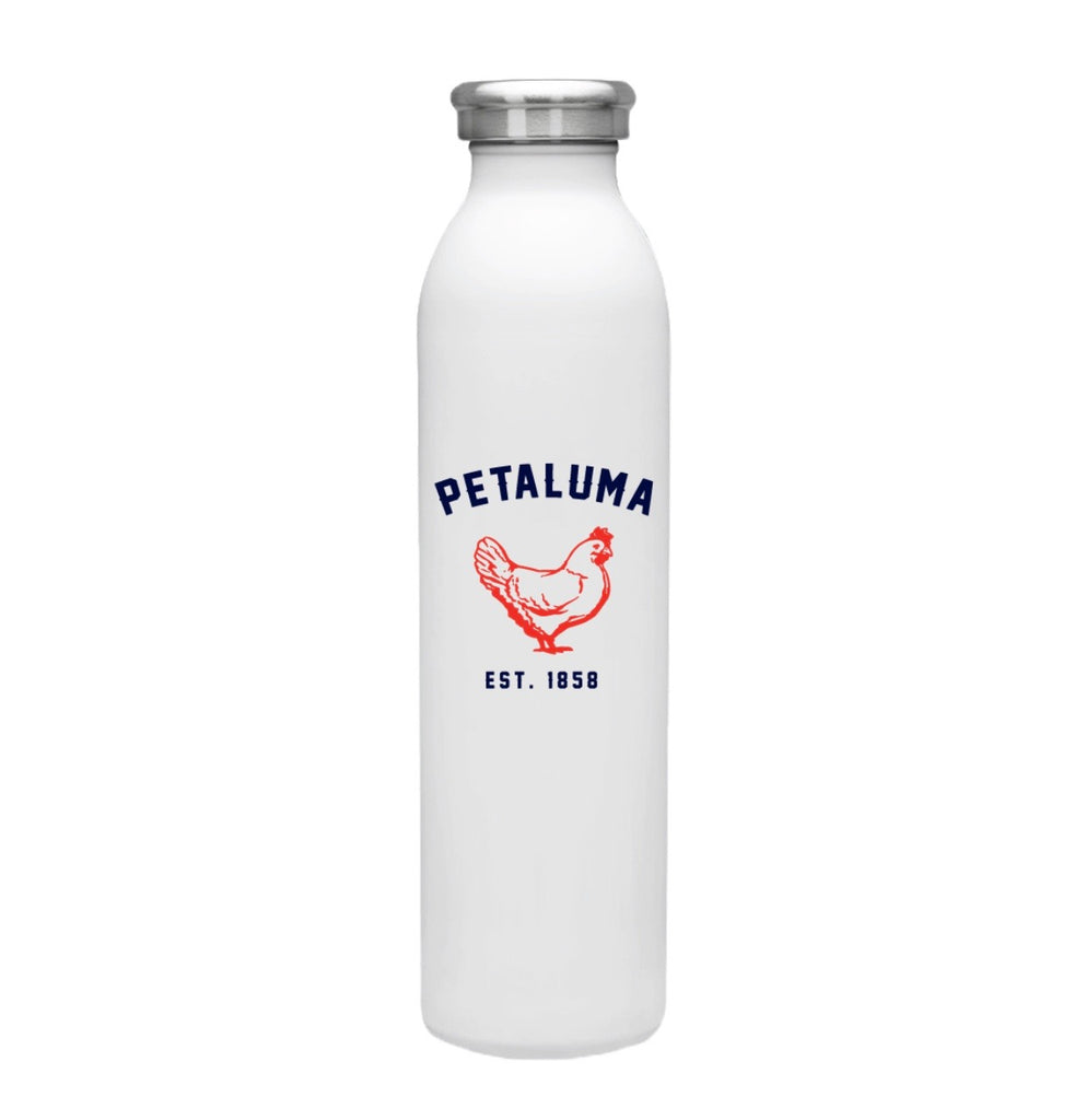 Stainless Steel Vacuum Insulated Water Bottle with Petaluma Chicken
