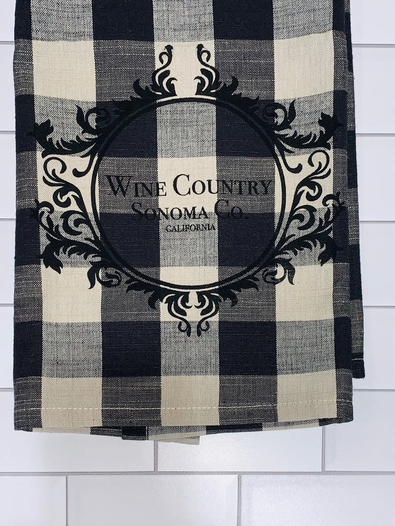 Luma Vintage Wine Country Sonoma County Tea Towel