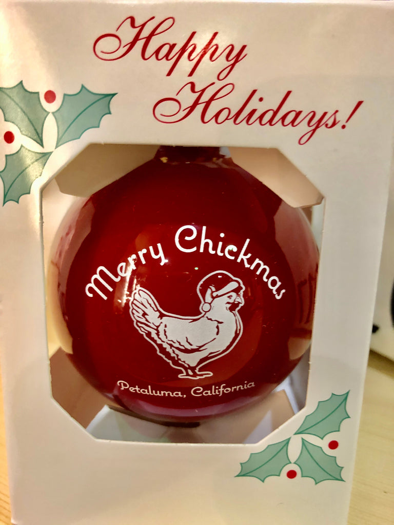 Merry Chickmas Holiday Ornament