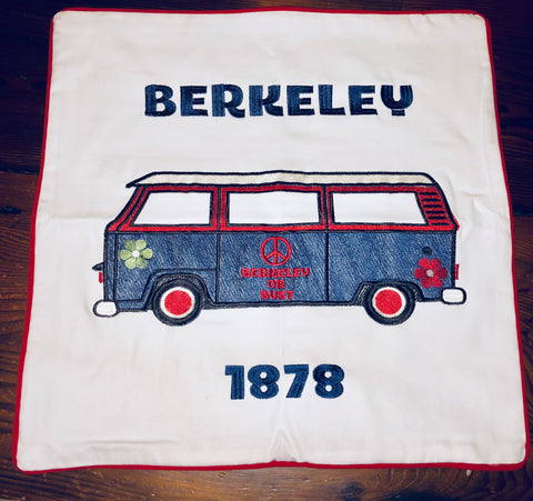 Embroidered Berkeley Van  Pillow Cover by Luma Vintage
