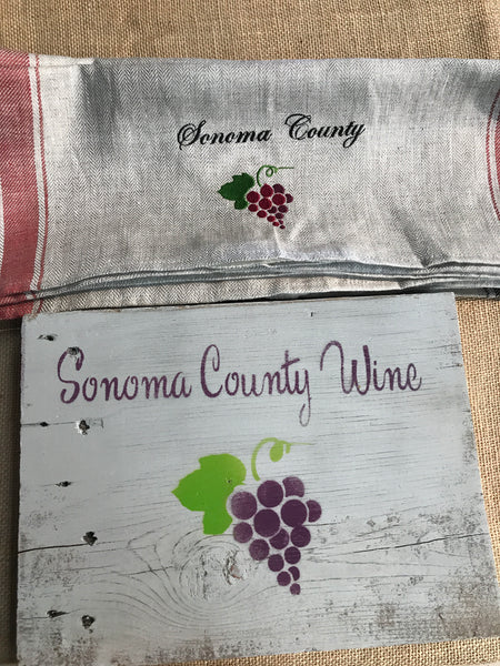 Sonoma County Wine Sign-Reclaimed Wood