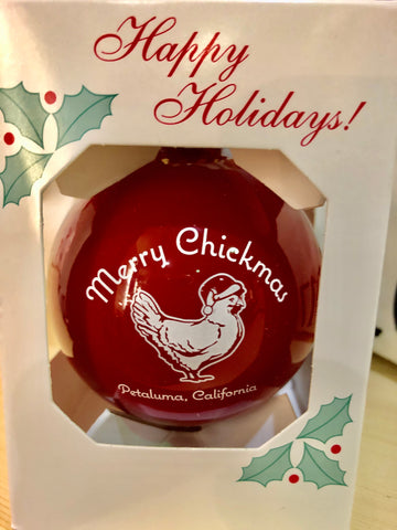 Presale Merry Chickmas Petaluma  Holiday Ornament
