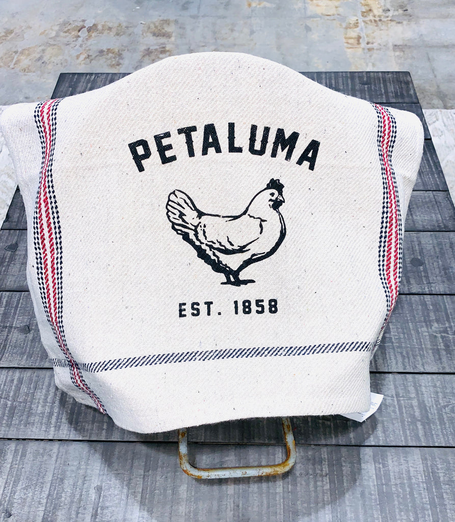 Rustic  Tea Towel with Luma Vintage Petaluma Chicken