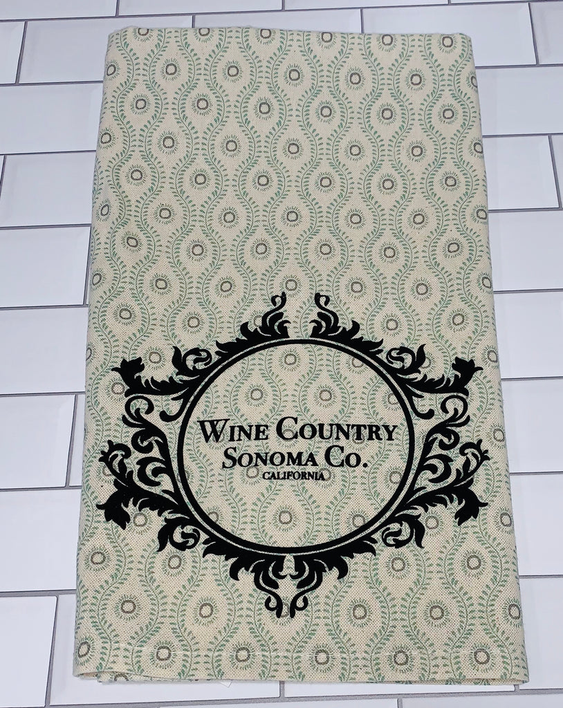 Luma Vintage Wine Country Sonoma County Tea Towel- Sage or Paisley