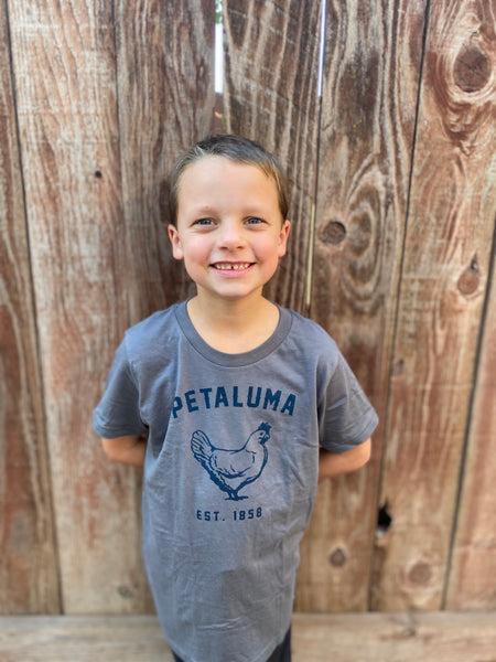 Grey Kids Luma Vintage Petaluma Chicken Shirt