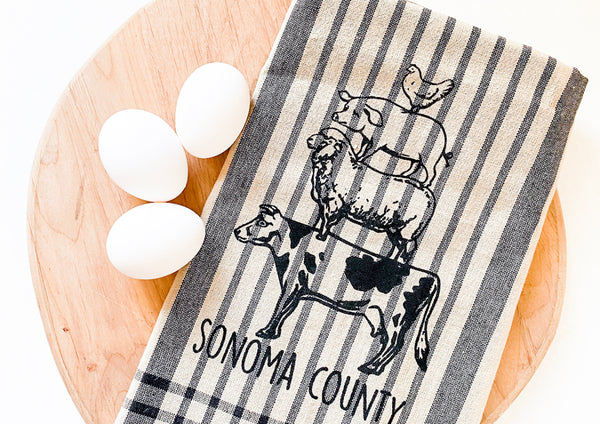Luma Vintage Animal Stack Sonoma County Tea Towel