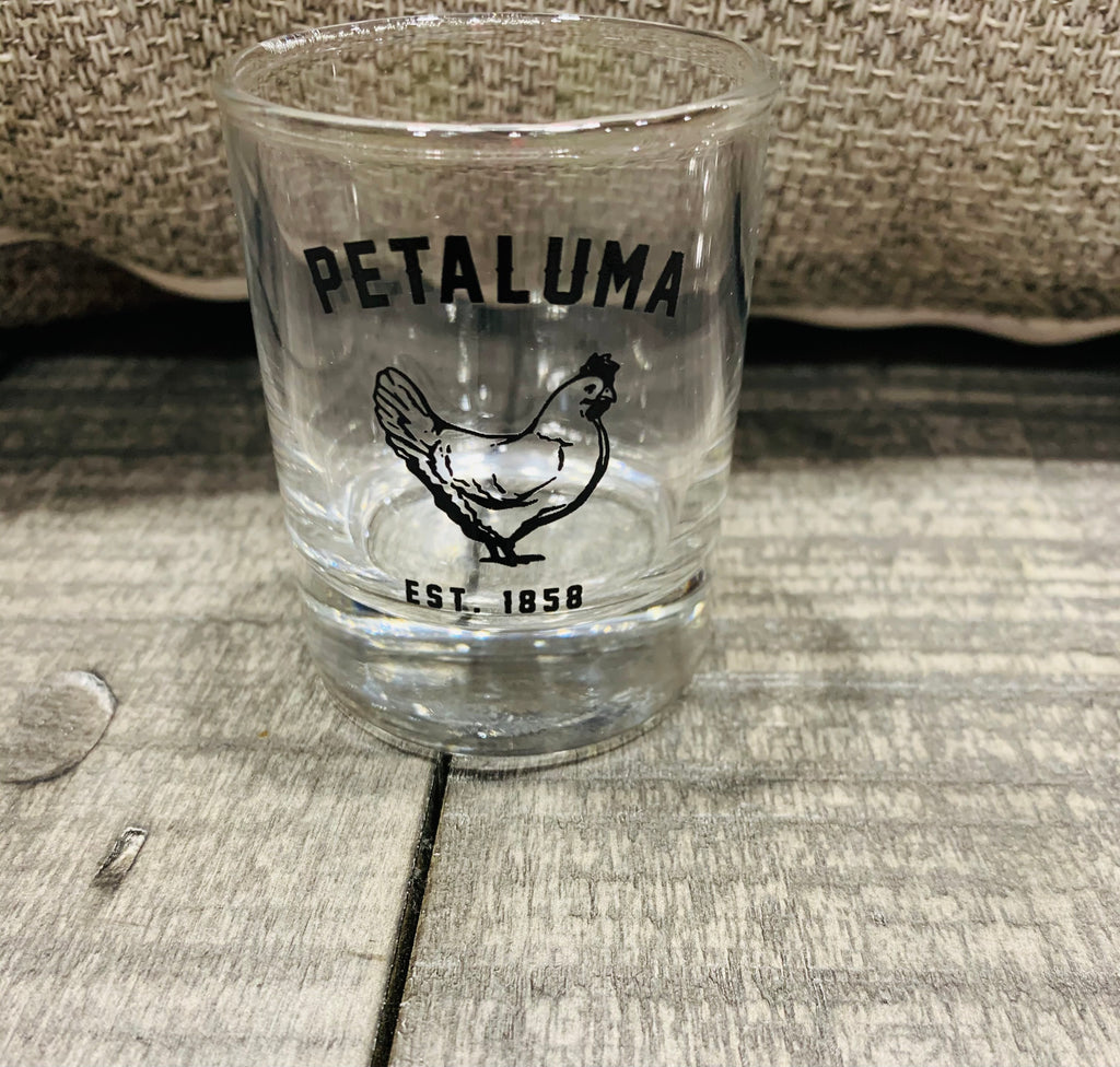 3.5 oz Petaluma Chicken Shot Glasses