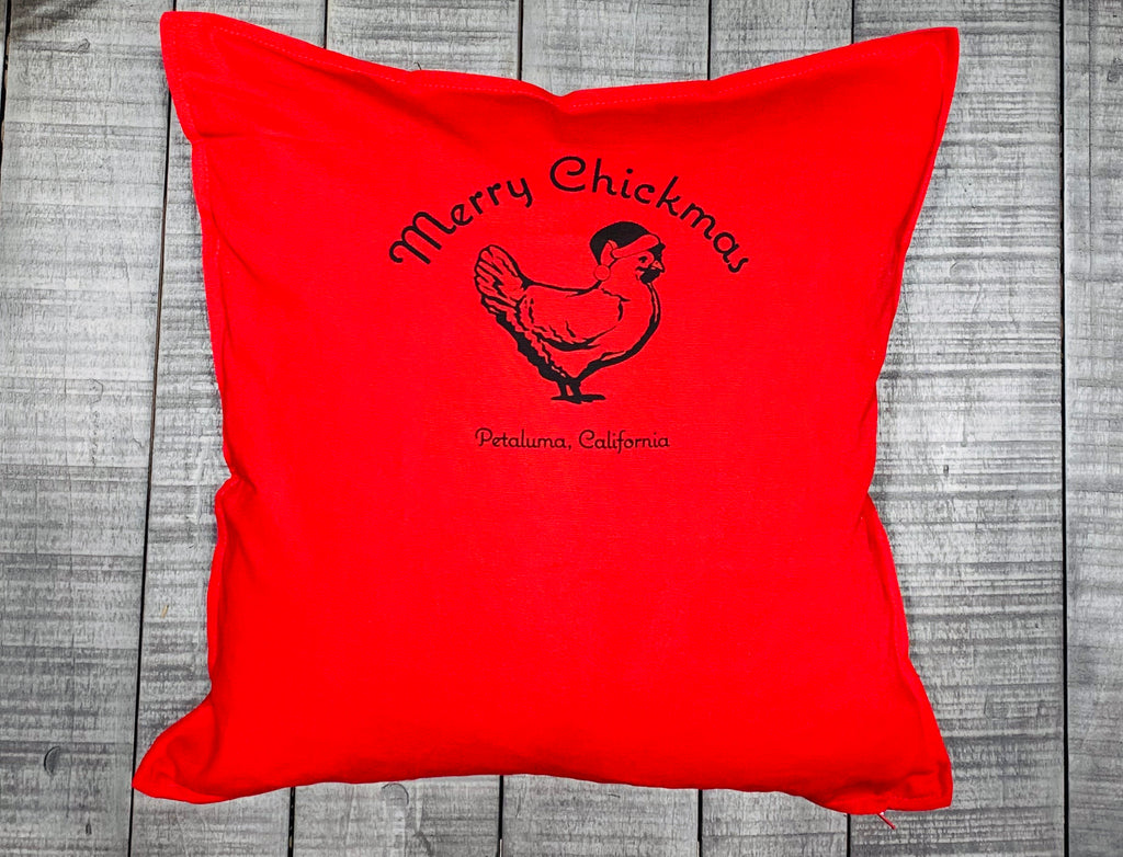 Merry Chickmas Pillow Cover