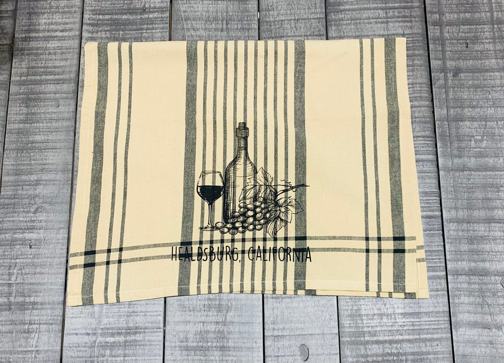 Healdsburg Wine Tea Towel Burberry Plaid