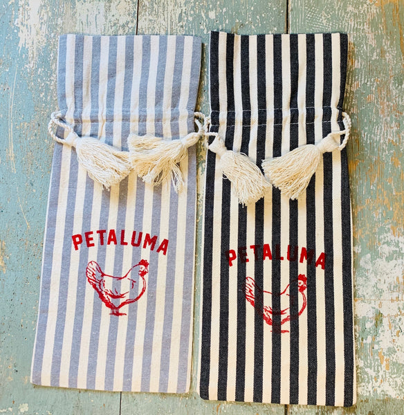 Petaluma Wine Bag (Grey or Black Stripe)