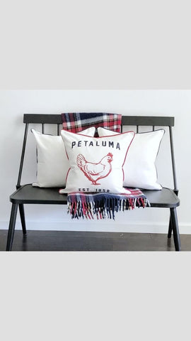 Embroidered Petaluma Chicken Pillow Cover- Luma Vintage
