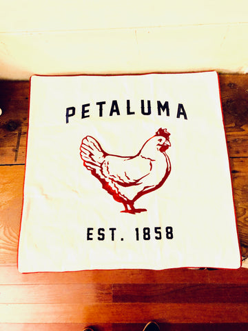 Euro Sham-Embroidered Petaluma Chicken Pillow Cover- Luma Vintage