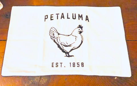 Petaluma Chicken Embroidered Lumbar Pillow Cover