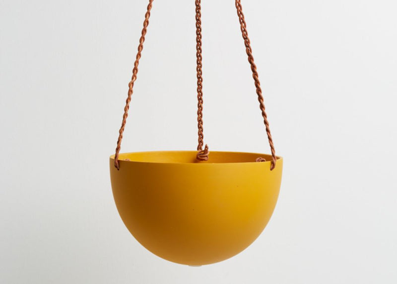 BLOCK COLOUR DOME HANGING PLANTER (RRP: £85)