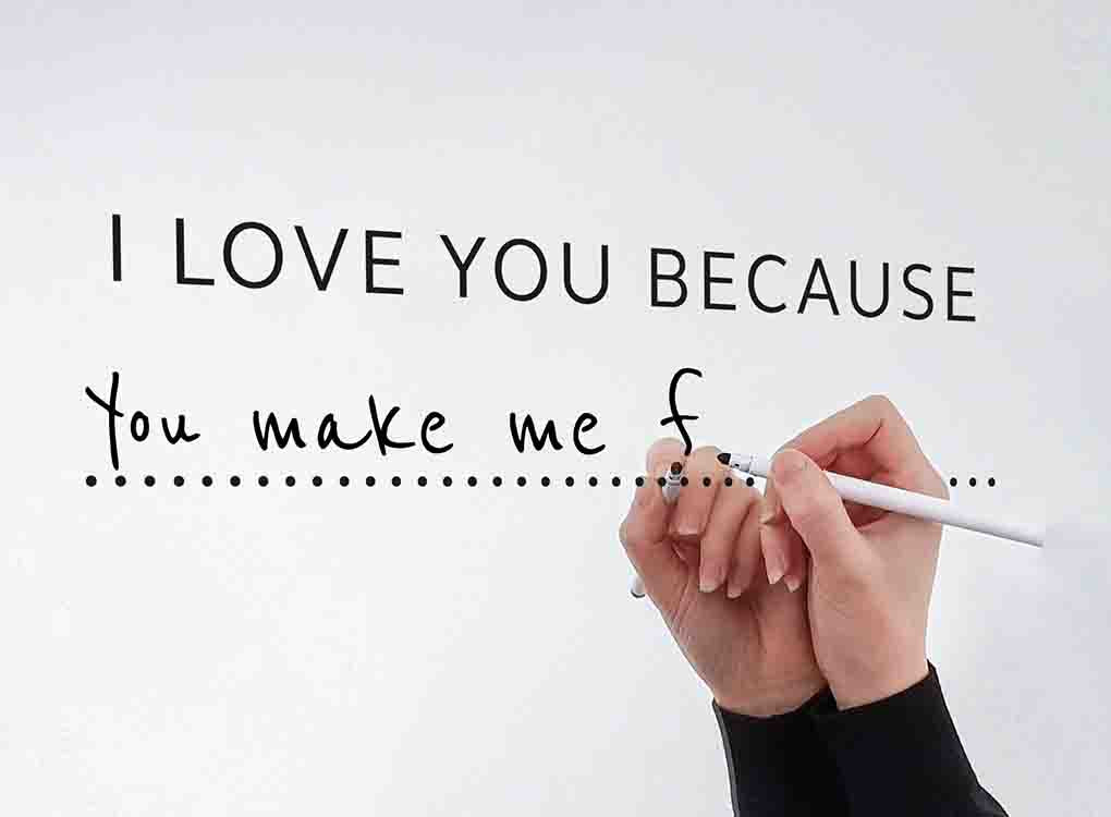 I LOVE YOU BECAUSE - MIRROR DECAL KIT (RRP: £12.00)