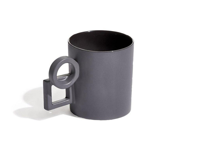 Aaandersson Shapes Grey Scale Coffee Mugs at MOXON London