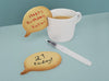 Make amazing personalised cookies for the people you love! Speech Bubble shaped cutter + pen. Write your own message to them. Wholesale. Worldwide shipping. Free UK shipping over £300.