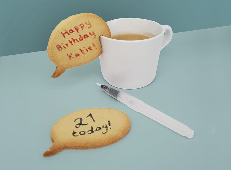 PERSONALISED COOKIE MAKING KIT | SPEECH BUBBLE and LOVE HEART (RRP: £7.99)