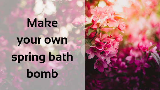 Make your own spring bath bomb