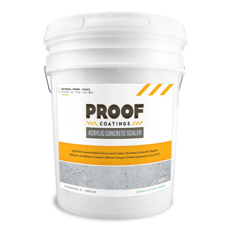 Acrylic Concrete Sealer - 5 GAL Ready to Use