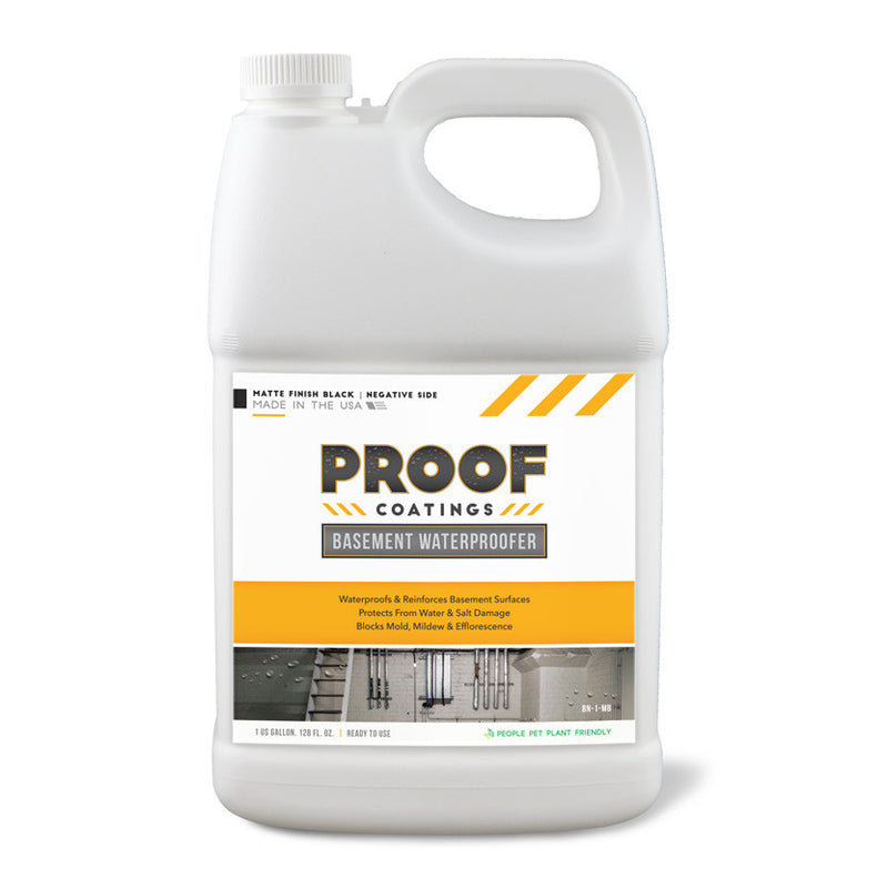Basement Waterproofer (Negative Side): Matte Finish - 1 GAL Ready to Use
