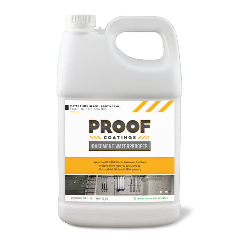 Basement Waterproofer (Positive Side): Matte Finish - 1 GAL Ready to Use