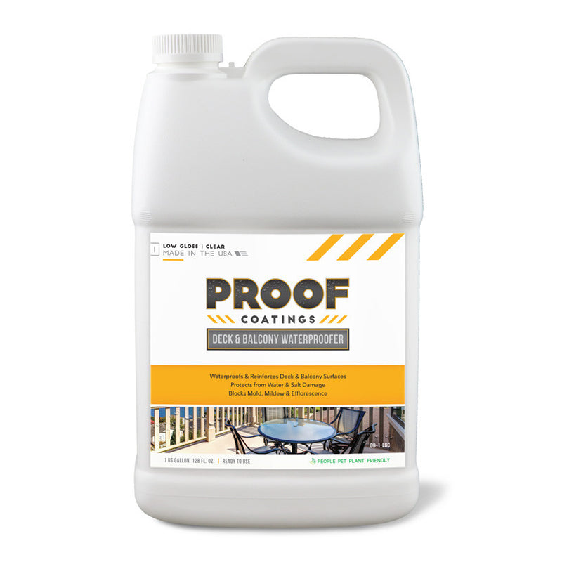 Deck and Balcony Waterproofer: Low Gloss - 1 GAL Ready to Use