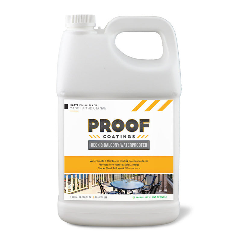 Deck and Balcony Waterproofer: Matte Finish - 1 GAL Ready to Use