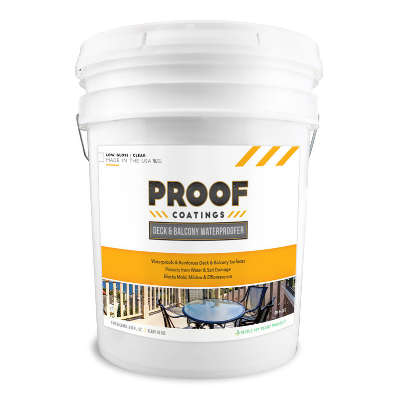 Deck and Balcony Waterproofer: Low Gloss - 5 GAL Ready to Use
