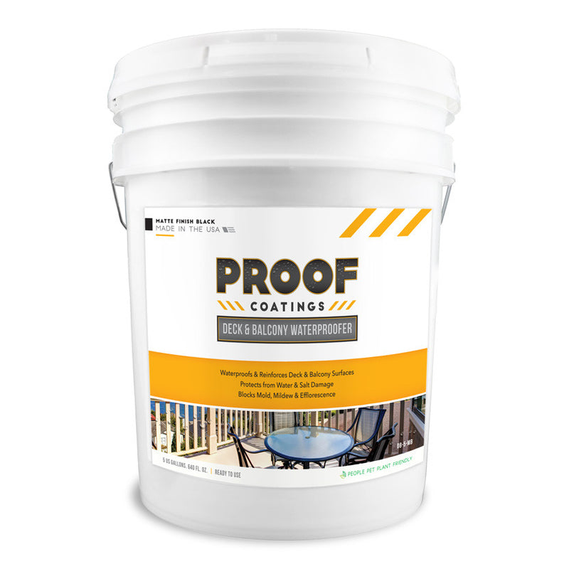 Deck and Balcony Waterproofer: Matte Finish - 5 GAL Ready to Use