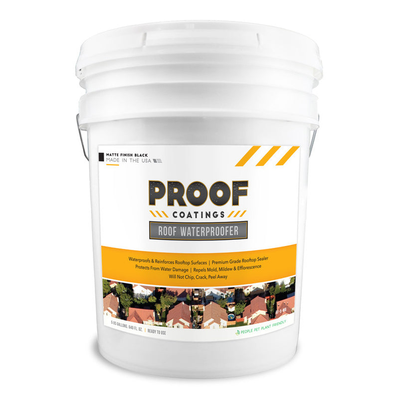 Roof Waterproofer: Matte Finish - 5 GAL Ready to Use