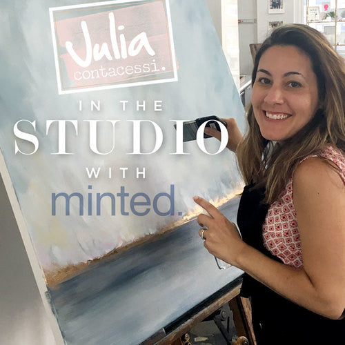 Live Painting in the Studio with Minted
