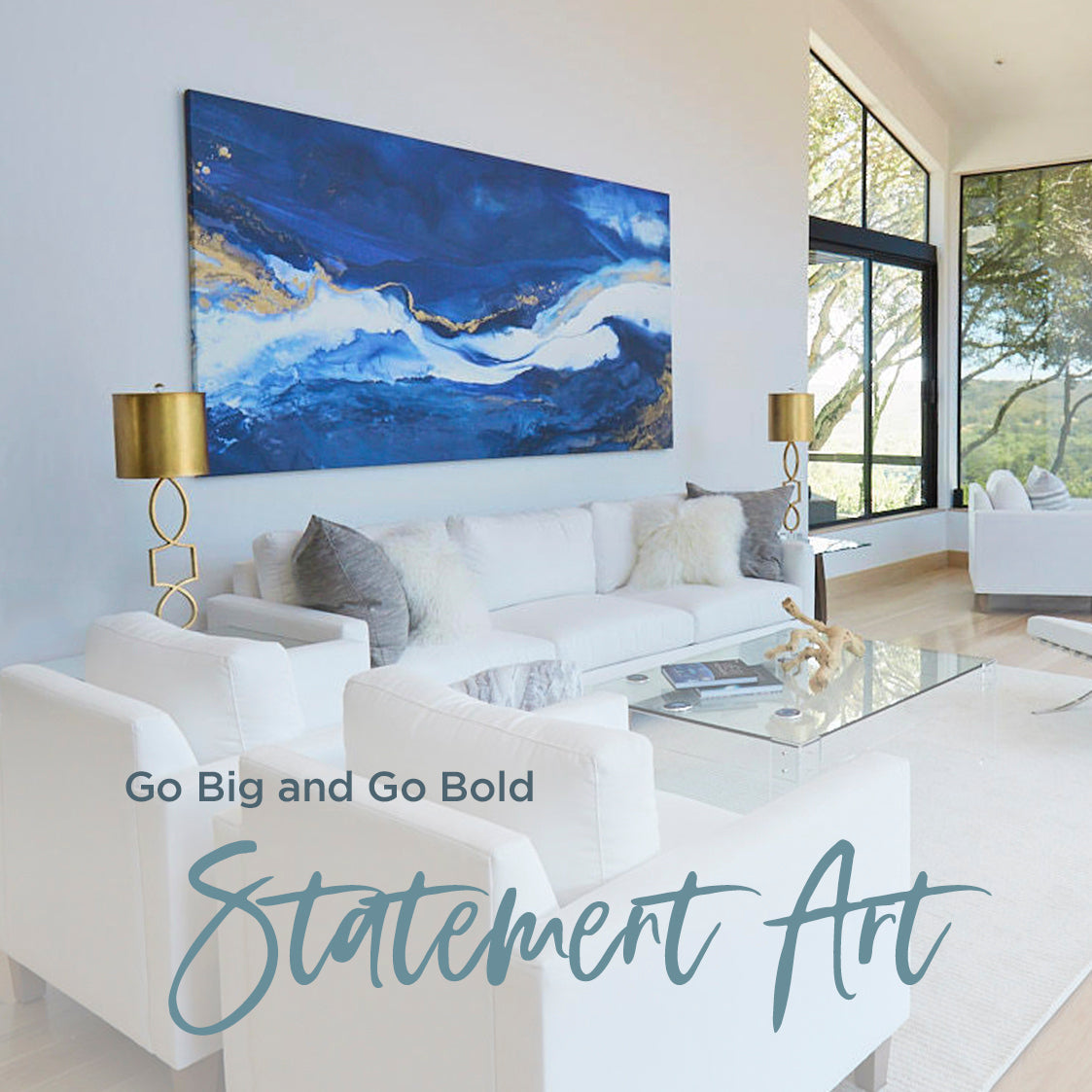 Go Big and Go Bold:  Using Statement Art in Your Home