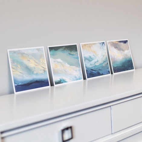 Coastal 4 Set - Prints