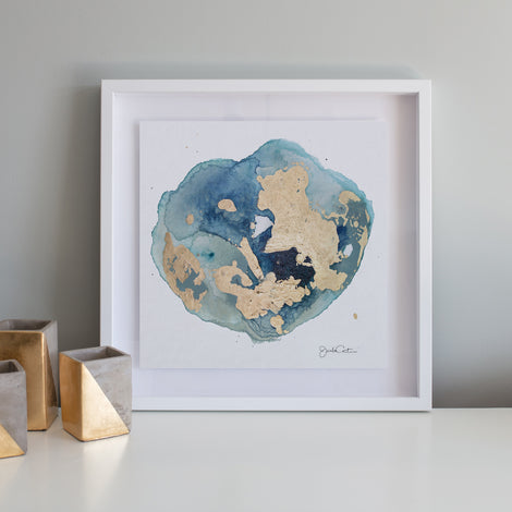 Geode No. 1 - Framed Canvas Print