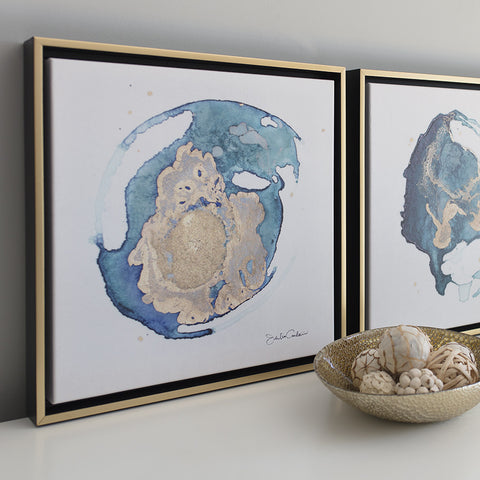 Geode No. 3 & 4 - Set of Framed Canvas Prints