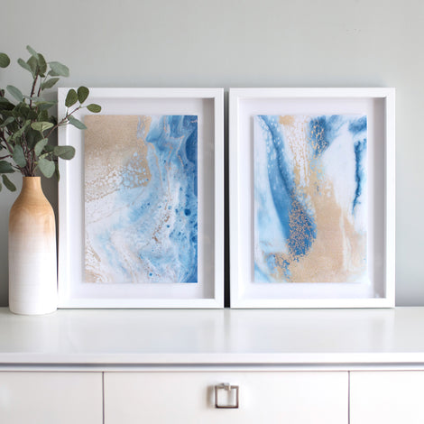 Soft Roar No. 1 & 2 - Set of Framed Prints