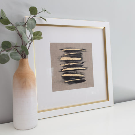 Zen Brush No. 3 - Linen Embellished Print