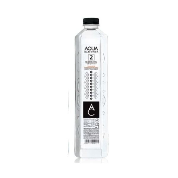 Aqua Carpatica Low Sodium Mineral Water - Sparkling  (Glass Bottle) 750ml 6 Pack