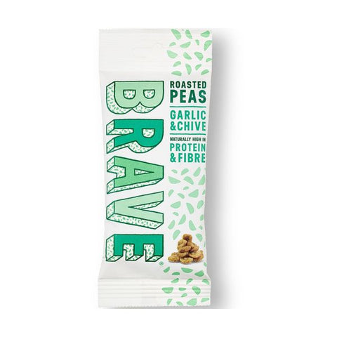 Brave Foods Roasted Peas Garlic & Chive x 12 pack