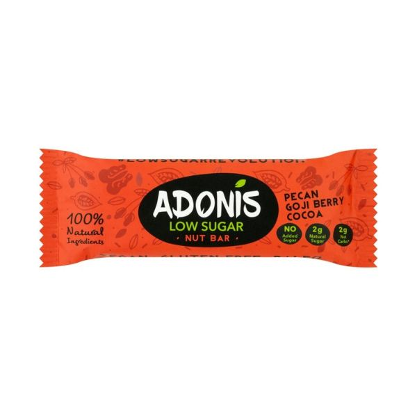 Adonis Natural Low Sugar Pecan Nut Bar x 25 pack