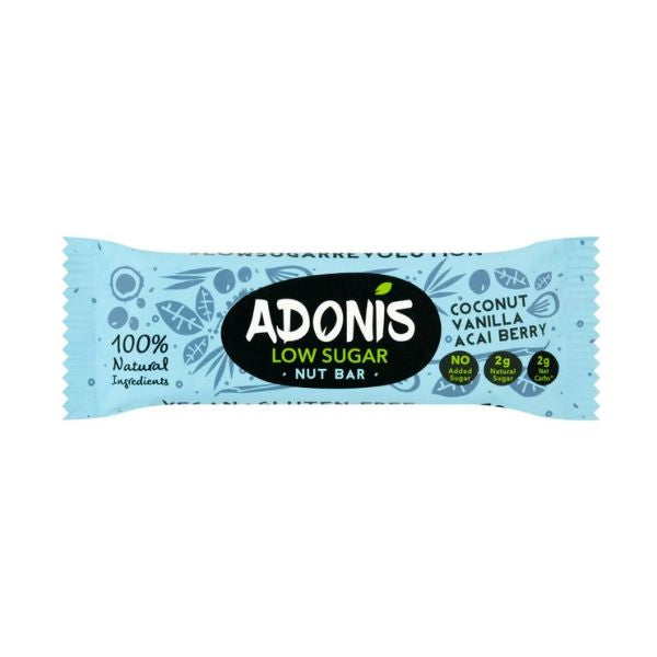 Adonis Natural Low Sugar Vanilla Nut Bar x 25 pack