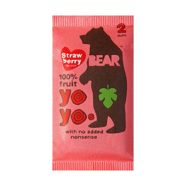 Bear Yoyo Strawberry Single x 18 pack